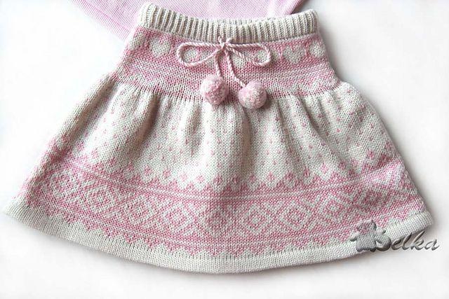 Free Pattern: jaquard skirt by Tatyana Fedorova