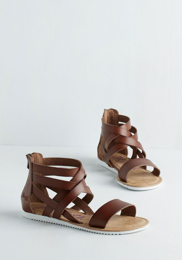 Canoe Feel the Love? Sandal in Brown. Whether youre the one paddling oar just along for the ride, youre sitting pretty in these happy, strappy sandals by Blowfish! #brown #modcloth