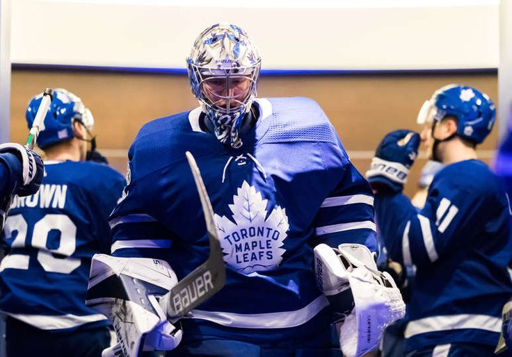 TORONTO, ON - NOVEMBER 16: Frederik Andersen #31 of the Toronto Maple Leafs leave the locker room before the third period against the New Jersey Devils at the Air Canada Centre on November 16, 2017 in Toronto, Ontario, Canada. (Photo by Kevin Sousa/NHLI via Getty Images)