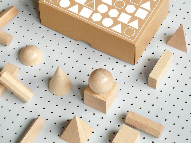 Present & Correct – Wood Geometric Model Set