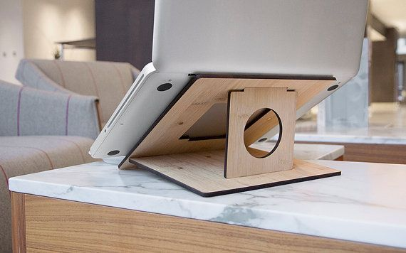 Flio  Ultra Portable and Lightweight Laptop Stand  Bamboo