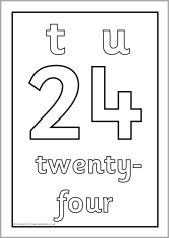 Tens and ones/units number posters 0-100 - black and white (SB3576) - SparkleBox