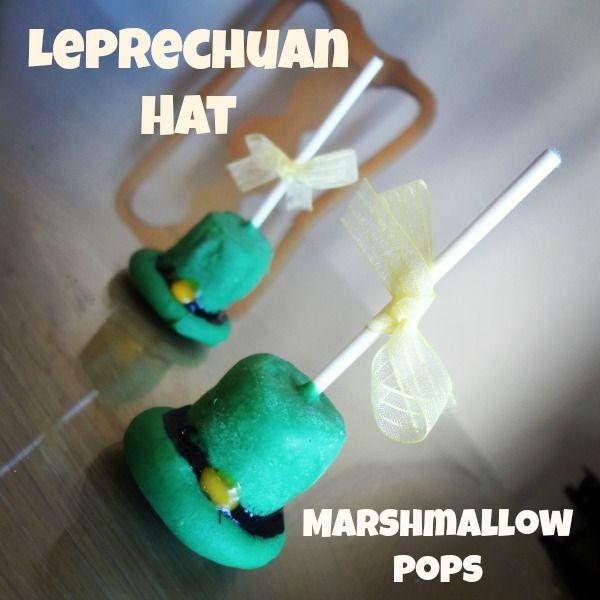 Leprechaun Hat Marshmallow Pops via www.jmanandmillerbug.com