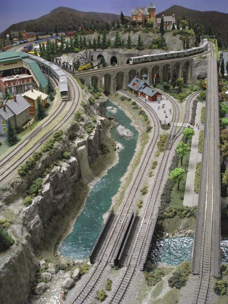 Beautiful Model Train Layout Image 3