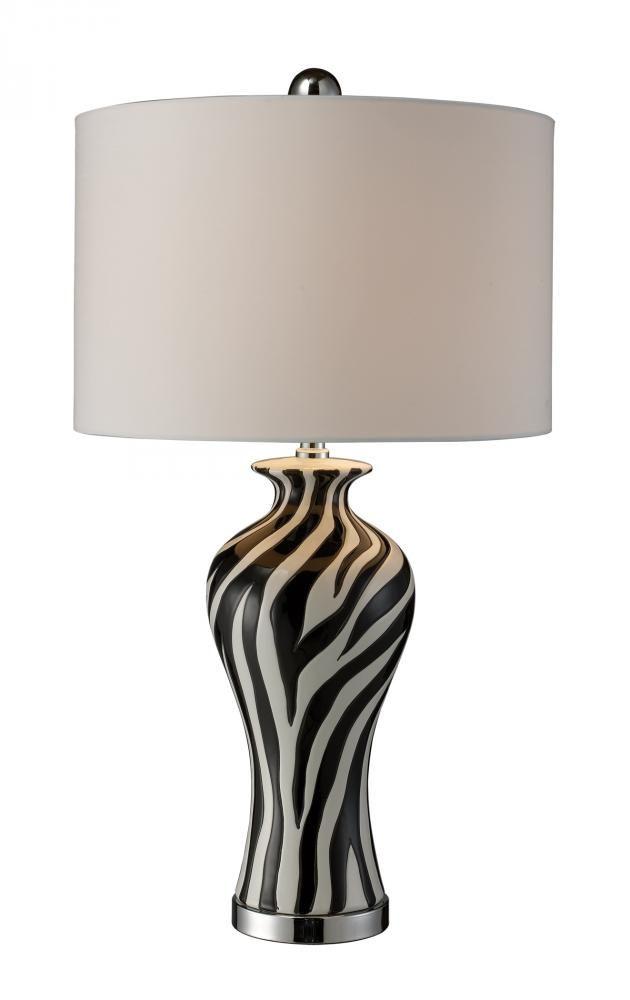 Dimond lighting carlton black white chrome table lamp black white and chrome table lamp ceramic