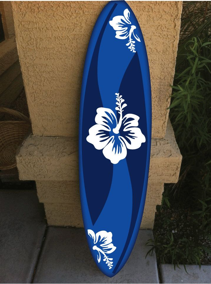 Wall Hanging Surf Board Surfboard Decor Hawaiian Beach