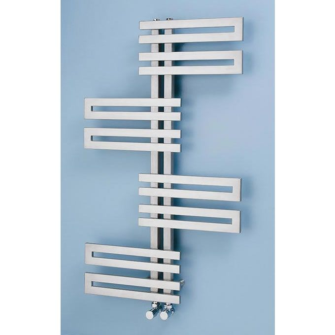 Apollo Genova Wave Brushed Stainless Steel Towel Rails