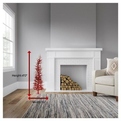 4ft Pre-Lit Artificial Christmas Tree Red Laser - with 70 Red Led Lights