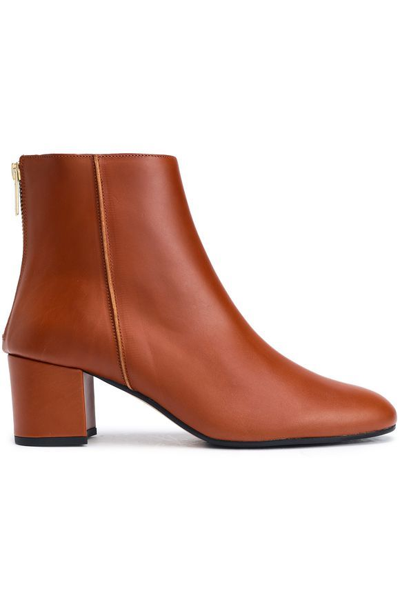Tan Leather ankle boots   Sale up to 70