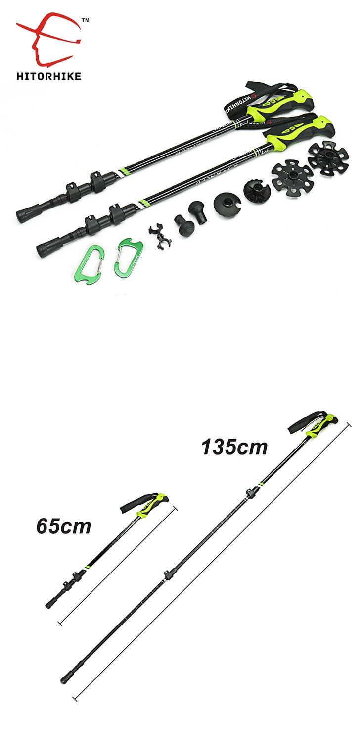 290g/pc Nordic Walking Poles Trek Pole Telescopic Alpenstock 7075 Aluminum Alloy Shooting Crutch Senderismo Walking Stick hiking
