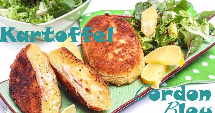 Cordon Bleu mal anders, woher stammt der Name Cordon Bleu, Kartoffel Cordon Bleu, Kartoffel mit Schinken und Käse gefüllt