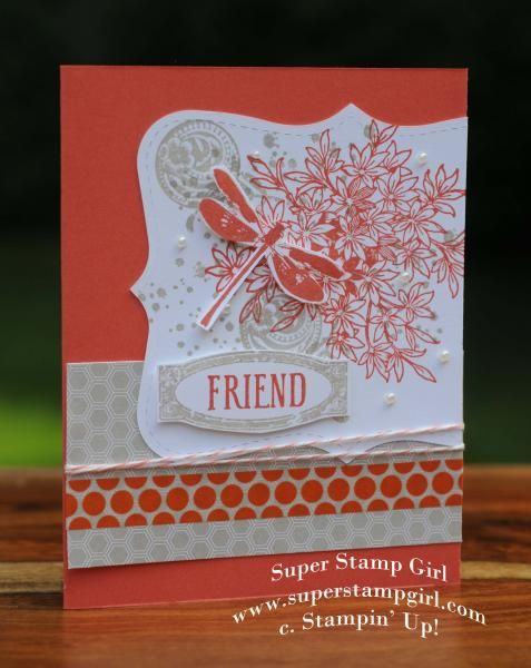 Stampin' Up! Awesomely Artistic, Super Stamp Girl by crykomara - Cards and Paper Crafts at Splitcoaststampers