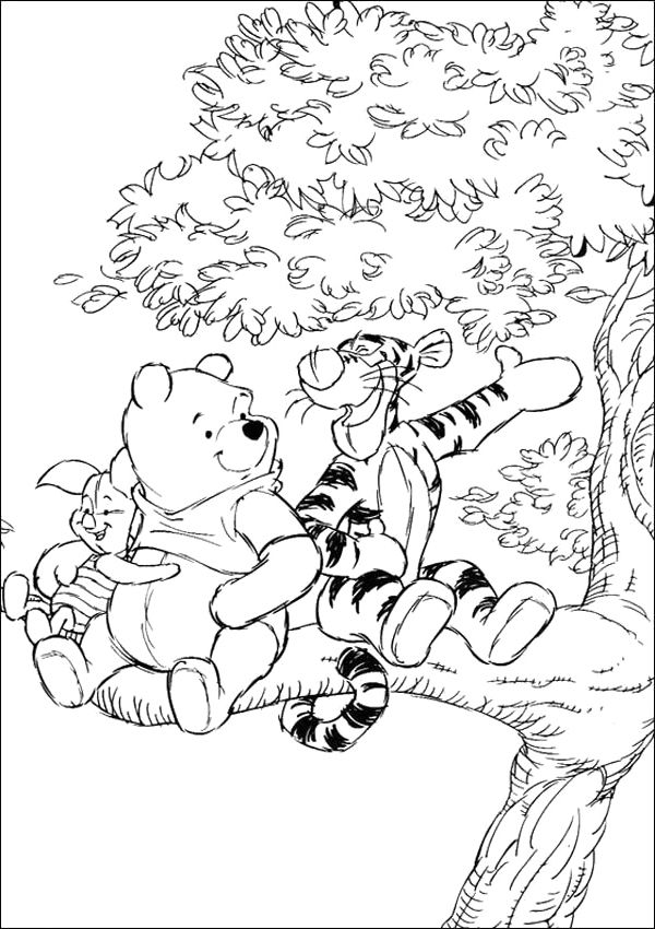pooh and friends coloring pages - Tigger Piglet Coloring Pages