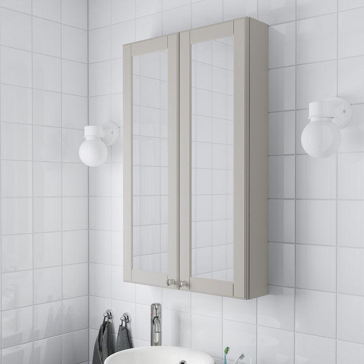 GODMORGON Spiegelschrank 2 Türen   Kasjön hellgrau   IKEA Deutschland in 2020   Ikea godmorgon ...