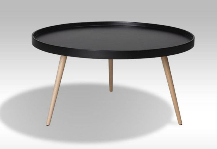 Opus sofabord - rundt sort