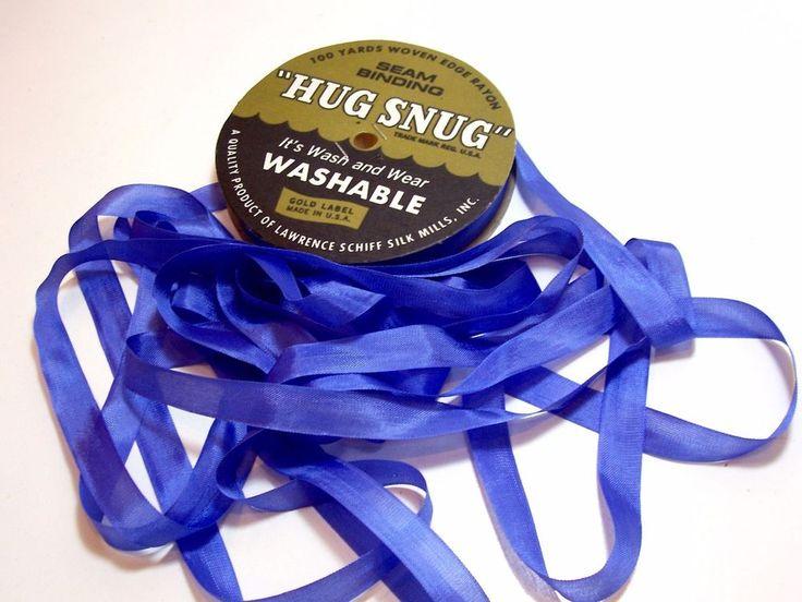 Blue PurpleSeam Binding, Hug Snug x 100 Yards, Rayon, Schiff, Blue Purple Ribbon #HugSnugSchiff