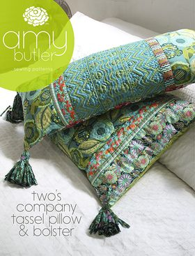 Amy Butler's Two's Company Tassel Pillow & Bolster