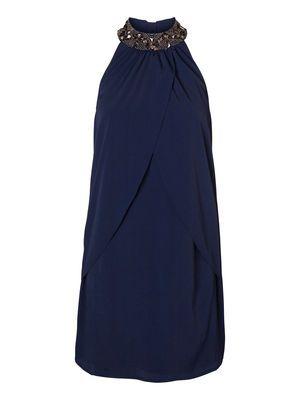 Party Perfect! CELLA HALTERNECK SHORT DRESS #veromoda #maxfactor @Veronica MODA