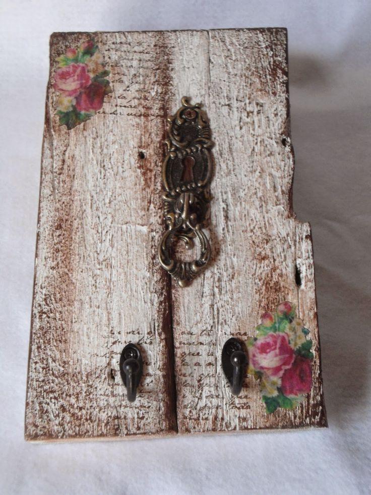 elaine artesanatos: PORTA CHAVES E PORTA TOALHAS SHABBY CHIC