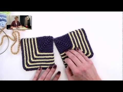 How to knit mitered squares at verypink.com. Her tutorial videos are excellent!