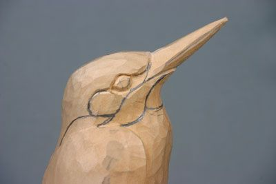 Kingfisher - The Woodworkers Institute - 25 steps for beginner carving of an intricate piece.