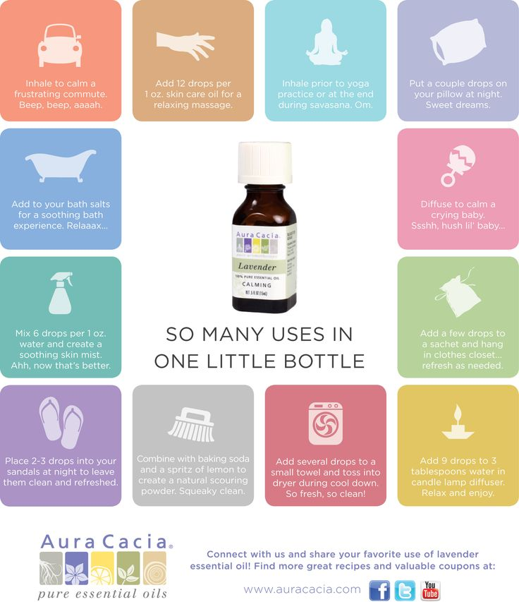 12 uses for lavender essential oil...check out the Aura Cacia website for more great recipes and ideas!