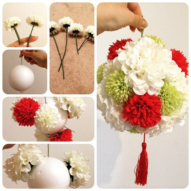 Inspo for hydrangea ball for wedding centerpiece