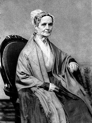 "Lucretia Mott, spiritual mentor and social justice warrior. At the click: American Friends Service Committee blog post: ""The courageous many: Undoing racism as a spiritual practice"""