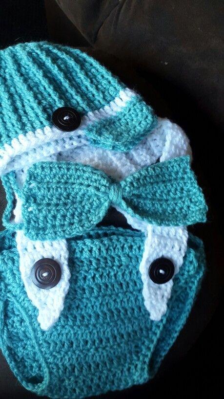 Crochet baby photo props