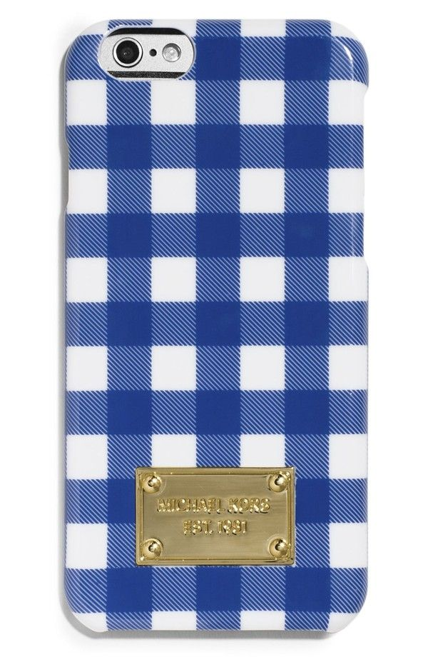 michael michael kors gingham print iphone 6 case gingham iphone and. Black Bedroom Furniture Sets. Home Design Ideas