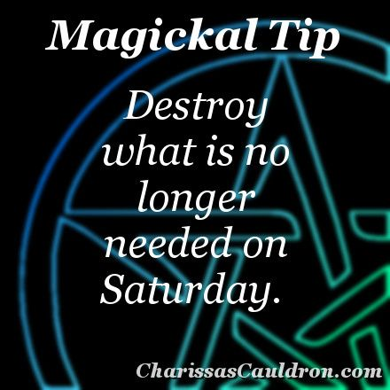 Magickal Tip - Out with the Old – Charissa's Cauldron