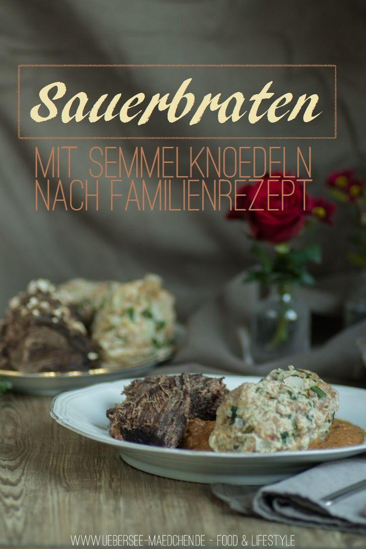 Sauerbraten mit Semmelnködeln nach Familienrezept, mit und ohne Schnellkochtopf | Recipe for german Sauerbraten with breaddumplings like my Mum cooks it via ÜberSee-Mädchen.de