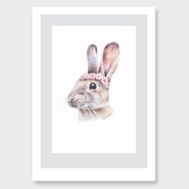 Spring Rabbit Art Print by Olivia Bezett