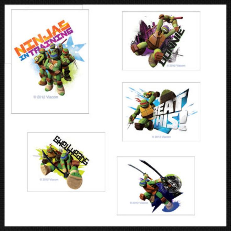 Teenage Mutant Ninja Turtle Tattoos x 12 - Party Favours - Birthday Supplies