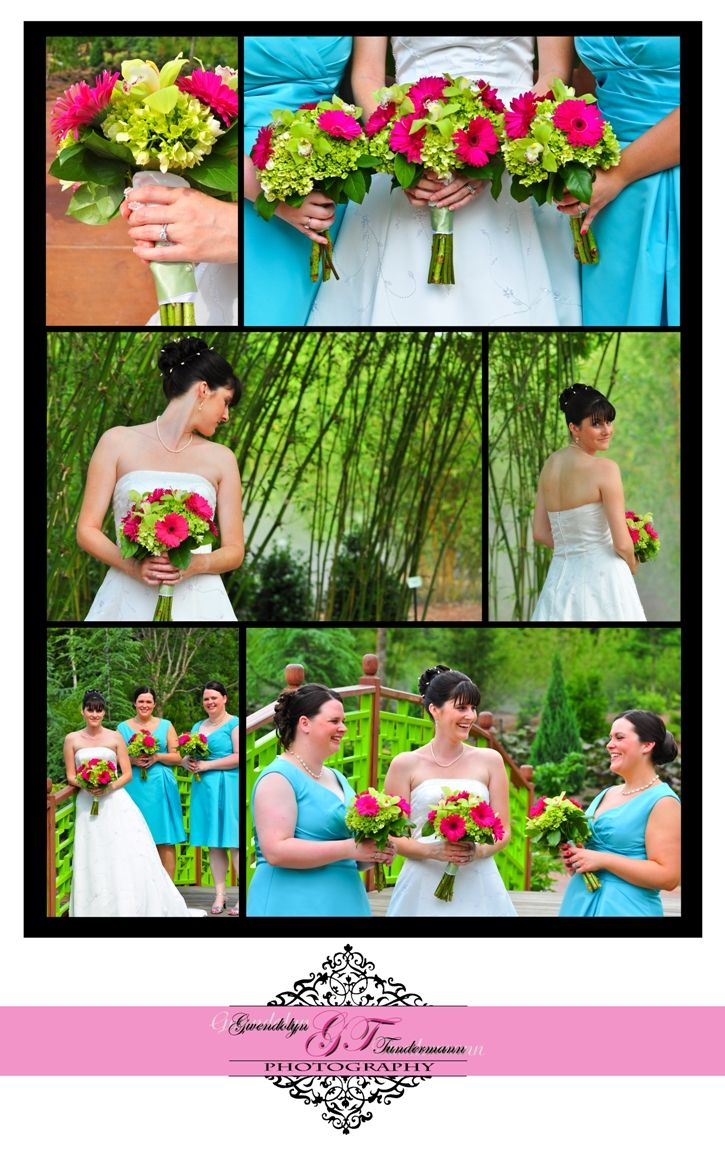 Pink And Green Bouquet Spring Wedding At The Zoo