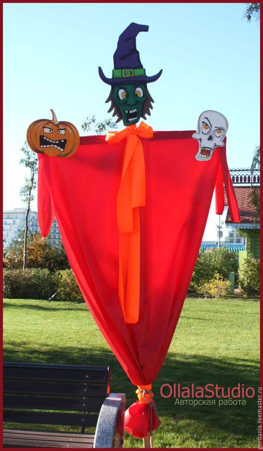Подарки на Хэллоуин ручной работы. Украшение на Хэллоуин (декорация ). Ollalastudio. Интернет-магазин Ярмарка Мастеров. Хэллоуин, украшение сада