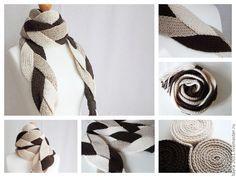 Купить Шарф вязаный KOSA - шарф, шарф вязаный, шарф женский, шарф мужской, шарфик