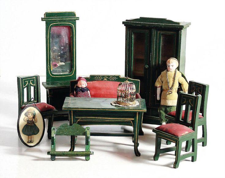 GOTTSCHALK Puppenstuben Wohnzimmer Möbel Programm,