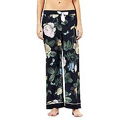 B by Ted Baker - Navy rose print pyjama bottoms