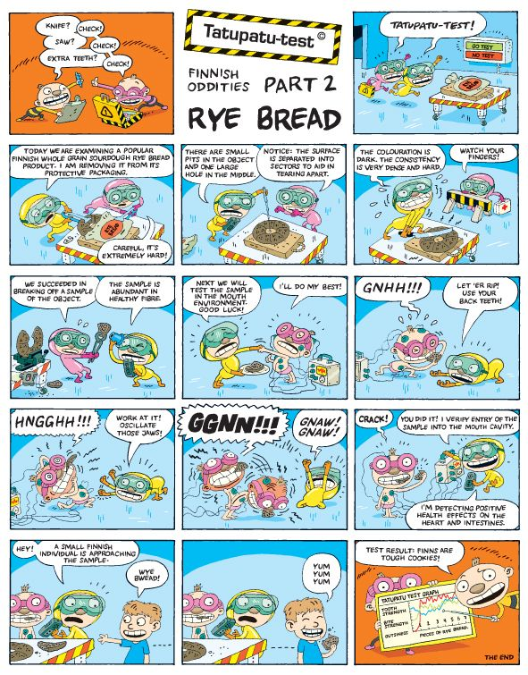 Another Tatu ja Patu comic strip (in English): Ryebread
