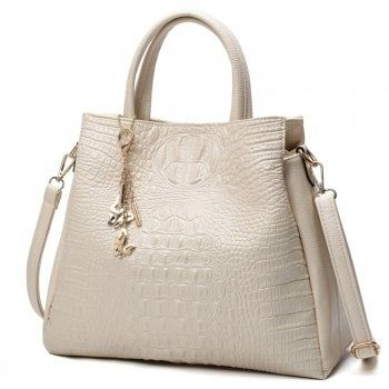 44573c6e28 Fashion PU Leather Shoulder Bags Brand High Quality Ladies Tote Bag Women  Big Handbags 2 pieces - BEIGE