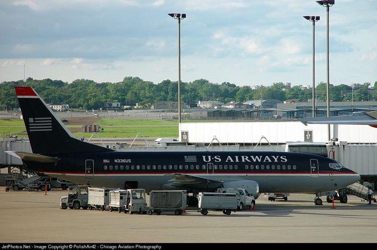 Boeing 737-301, US Airways, N336US, cn 23233/1200, 126 passengers, first flight 7.2.1986 (Piedmont Airlines), US Airways delivered 27.2.1997, next AirAsia (6.5.2004). Stored 31.1.2013. Foto: St. Louis, USA, 25.5.2002.