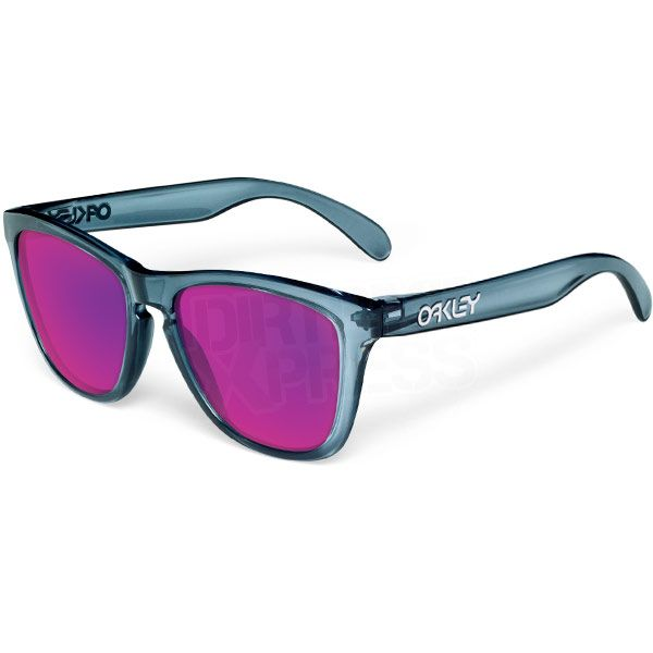 Oakley Frogskin Sunglasses - Crystal Black Positive Red Iridium