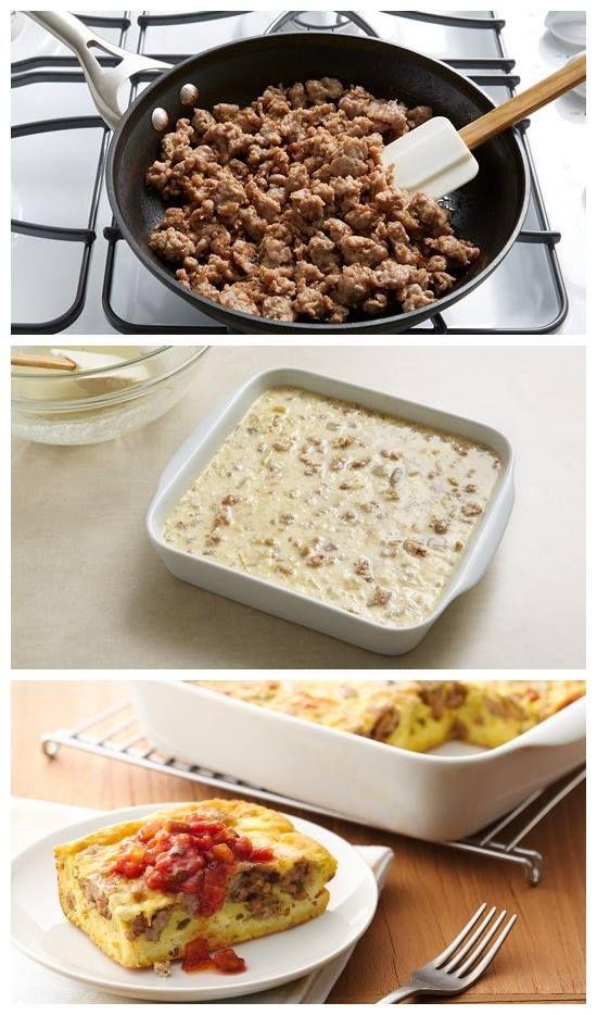 Overnight Southwestern Egg and Sausage Bake Recipe