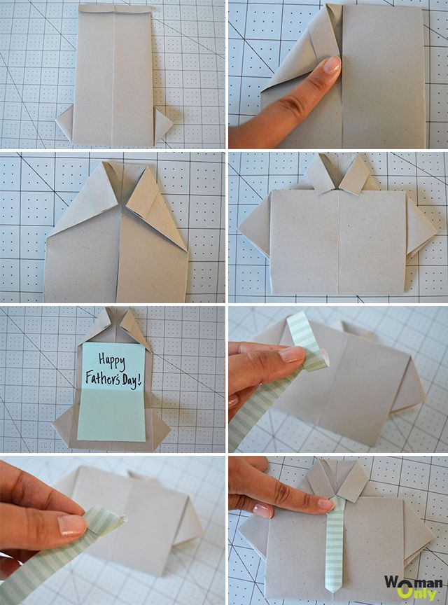 Открытка на 23 февраля своими руками оригами