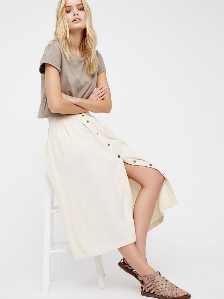Sunday Stroll Midi Skirt at Free People Clothing Boutique