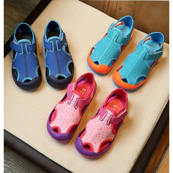 Unisex Kids Hollow-out Breathable Light Spats Beach Sandals