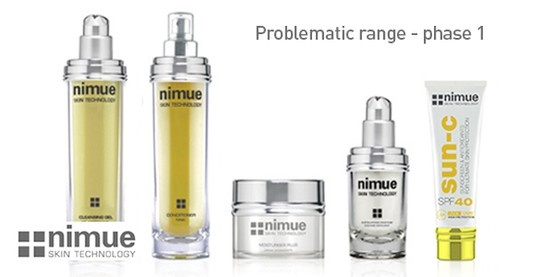 Problematic Range Product 1: Cleansing Gel Problematic Range Product 2: Conditioner Problematic Range Product 3: Purifier Problematic Range Product 4: SPF40   Problematic Range Product 5: Exfoliating Enzyme