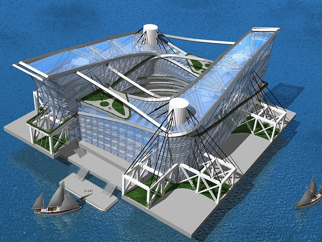 14 best Seasteading images on Pinterest Cities Floating island