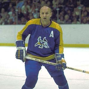 "Gerry ""Big O"" Odrowski of the  WHA's Phoenix Roadrunners"